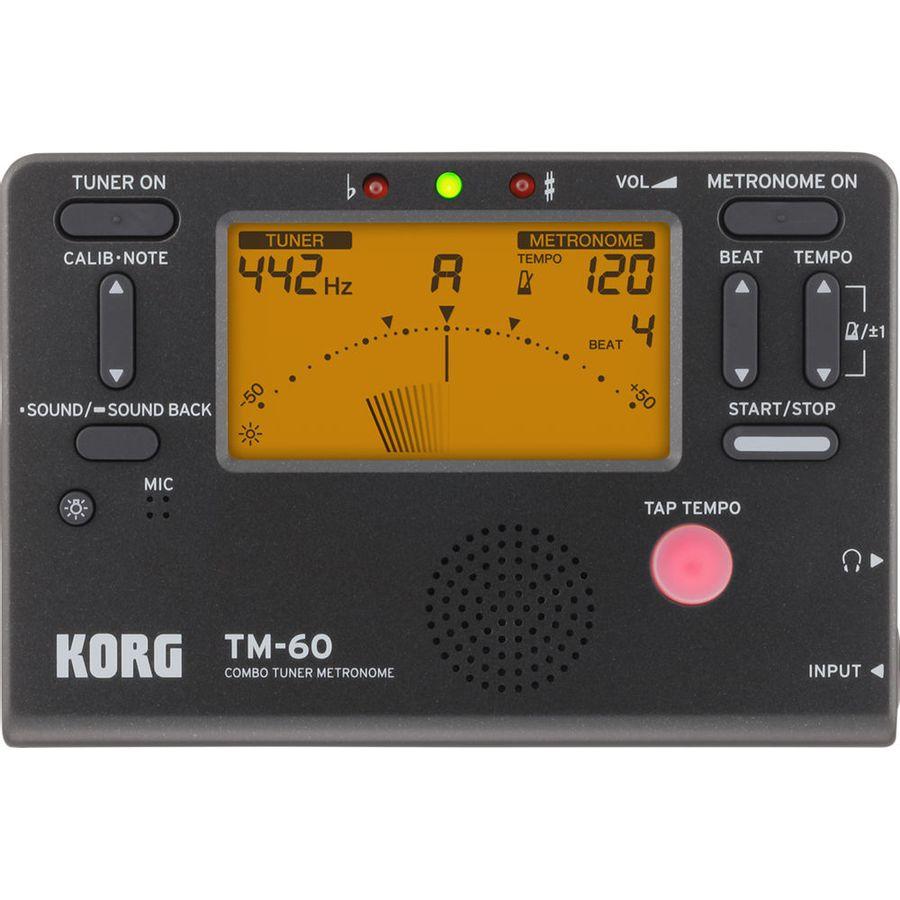 Afinador-Metronomo-Korg-Tm60c-Mic-Contacto-Negro-15-Ritmos