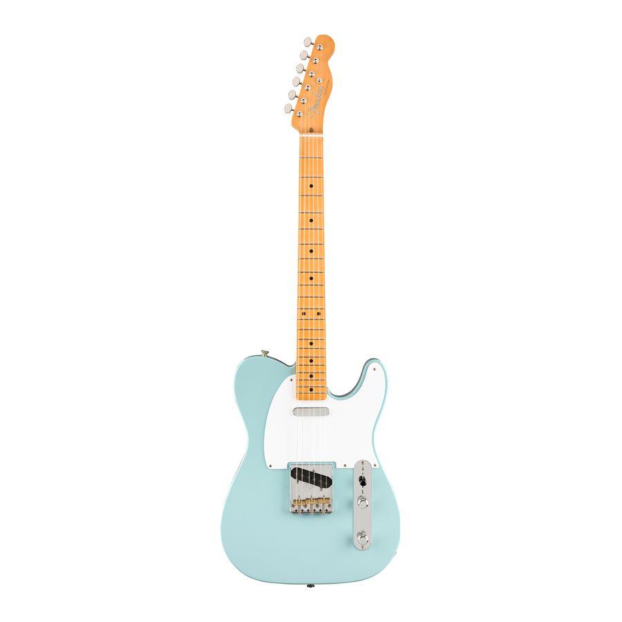 Guitarra-Electrica-Telecaster-Vintera-Series-50-s-MN-Mic.-Vintage-Style--50s-Single-Coil-Tele-Funda-Deluxe-Sonic-Blue