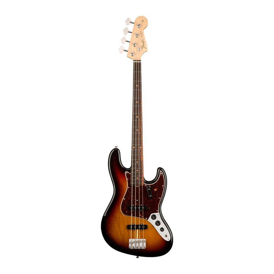 Bajo-Electrico-Fender-Jazz-Bass-American-Original--60S-4C-RWN-Estuche-rigido-de-estilo-vintage-Sunburst