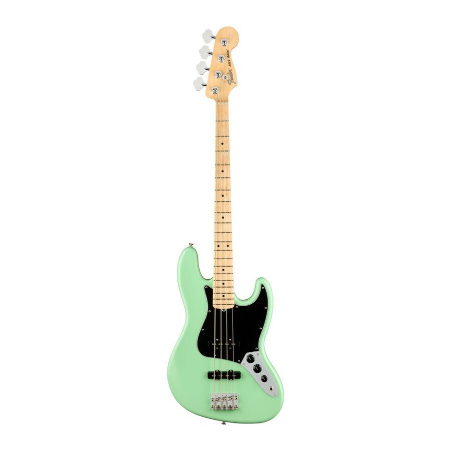 Bajo-Electrico-Jazz-Bass-American-Performer-4C-MN-Mics.Yosemite-Clav.-conico-Sist.-de-tono-greasebucket-c-Funda-Deluxe-Satin-Surf-Green