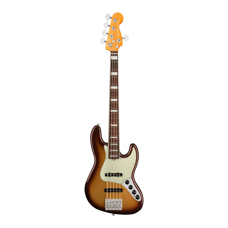 Bajo-Electrico-Fender-Jazz-Bass-American-Ultra-5C-RWN-Mics.-Ultra-Noiseless-c-Estuche-Elite-Molded-Mocha-Burst