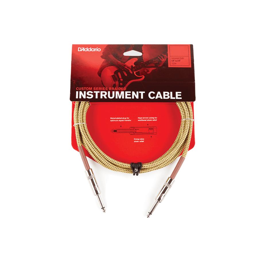 Cable-Planet-Waves-Pw-bg-20-Instrumentos-Plug-plug-6m-Tela-Tweed