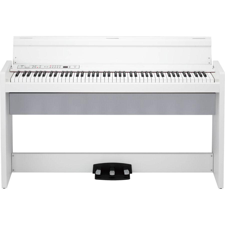 Piano-Digital-Korg-Lp-380u-Usb-88-T-C-mueble-3-Pedal-Blanco