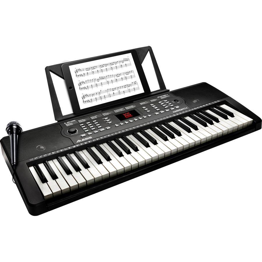Teclado-Portatil-Alesis-Harmony-54-Teclas-Microfono---Atril