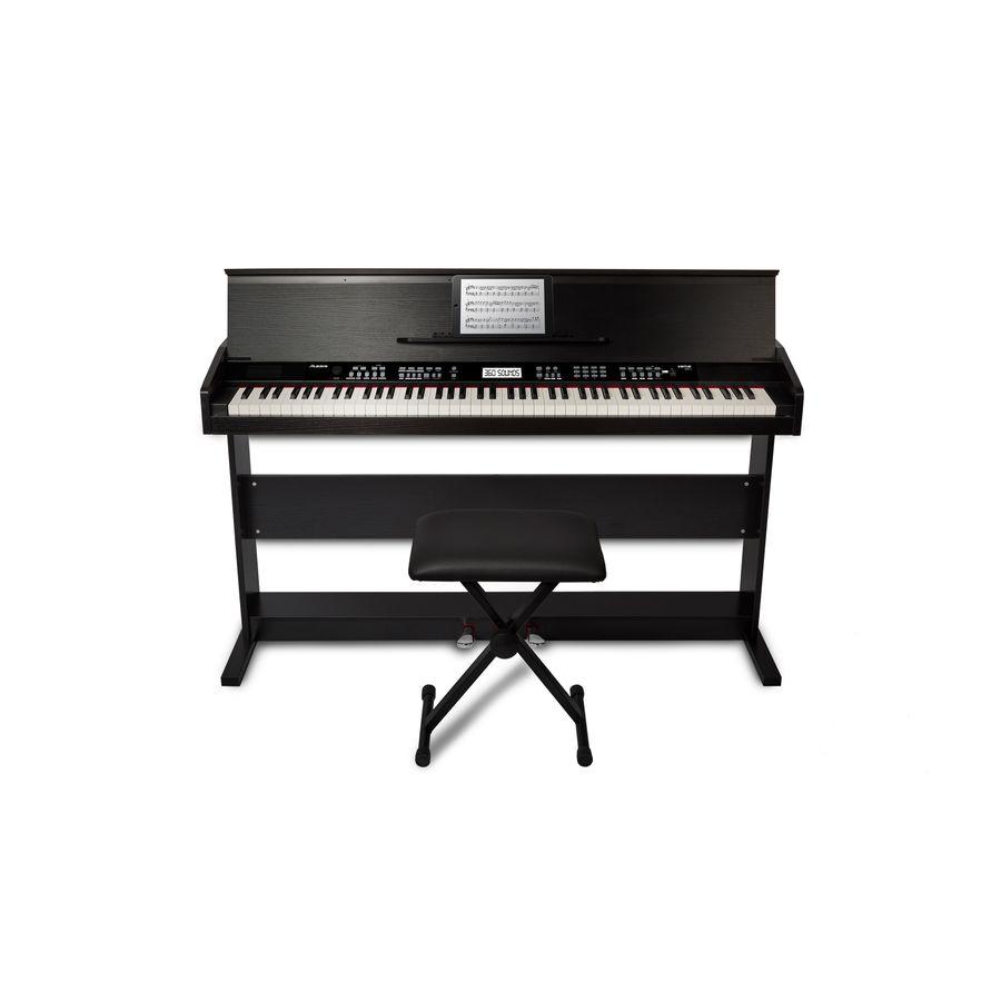 Piano-Digital-Alesis-Virtue-Black-88t-Banqueta-Mueble-Negro