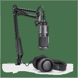 Pack-Audio-technica-At2020usb-pk-Microfono-Auricular-Soporte