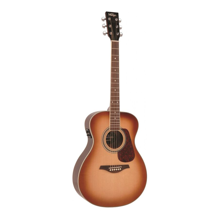 Guitarra-Electroacustica-Folk-Vintage-Ve300-Solida-Fishman-Sunburst
