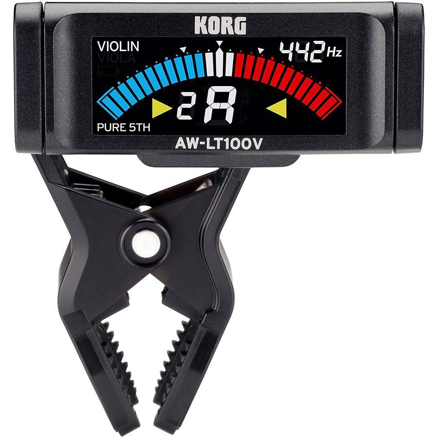 Afinador-Korg-Aw-lt100v-Pinza-Violin-viola-Pila-Aaa-100horas