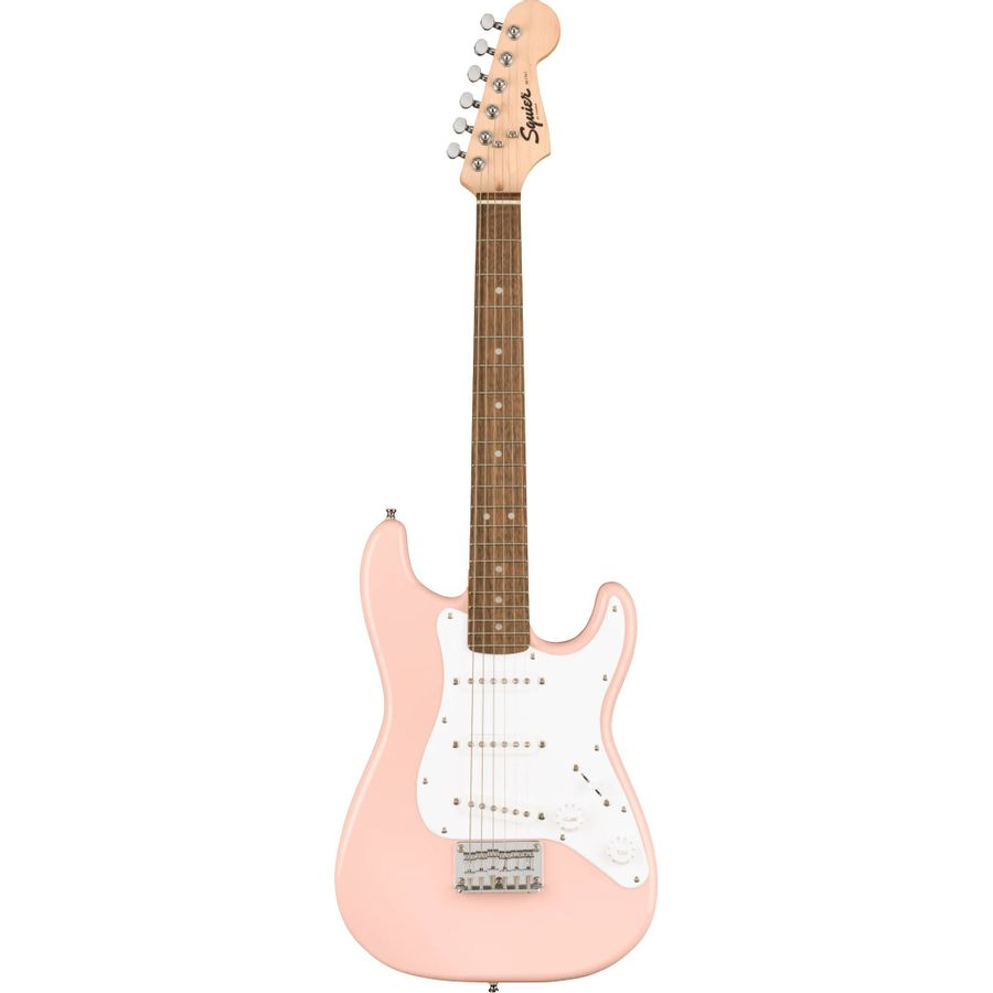 Guitarra-Electrica-Squier-By-Fender-Mini-V2-Stratocaster-Shell-Pink
